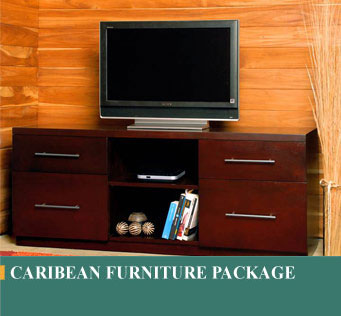 Caribean furniture package, packages include Bedroom, Living room, and Dining Room