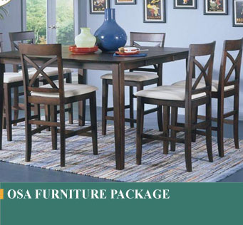 home style Costa Rican made urniture package, packages include Bedroom, Living room, and Dining Room