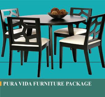 pura vida furniture package in costa rica