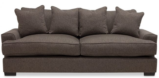 Phf2016 Ainsley Fabric Sofa With 4 Toss Pillows