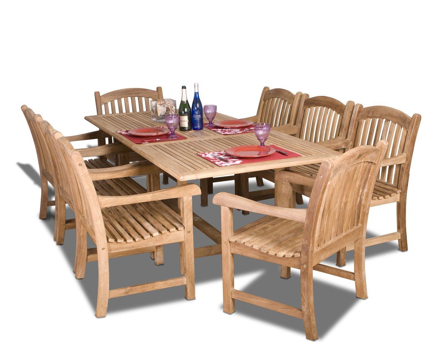 Amazonia Teak Newcastle Dining Set Costa Rican Furniture