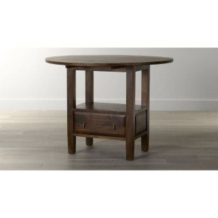 Basque Honey Round High Dining Table Costa Rican Furniture