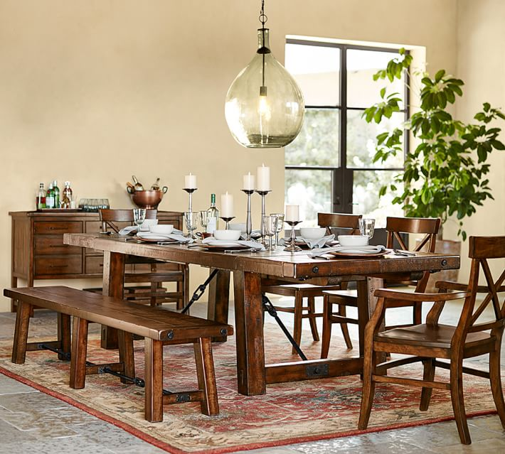 Benchwright Dining Table And Chairs