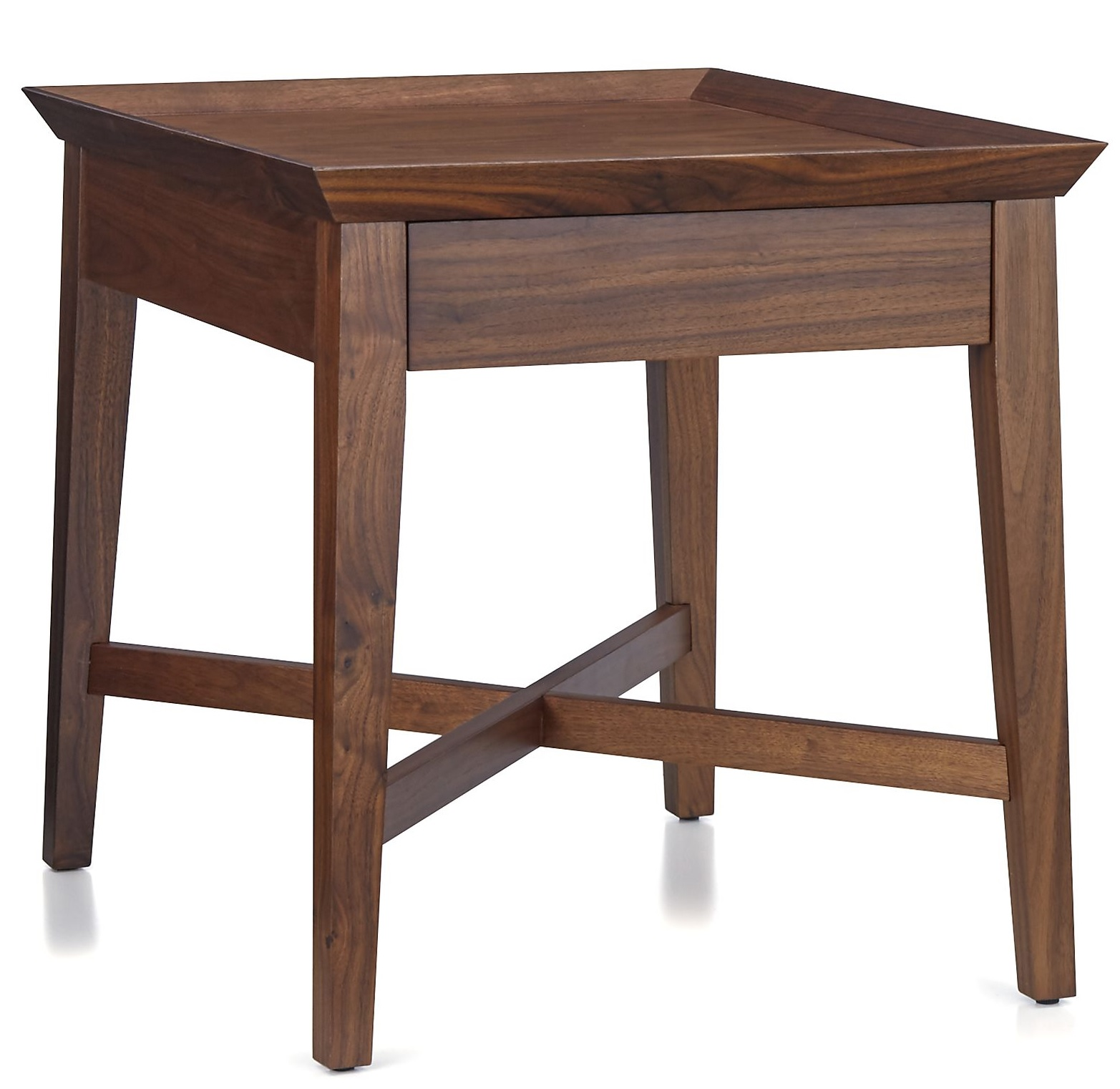 Bradley side table with drawer costa rican furniture for 12 end table