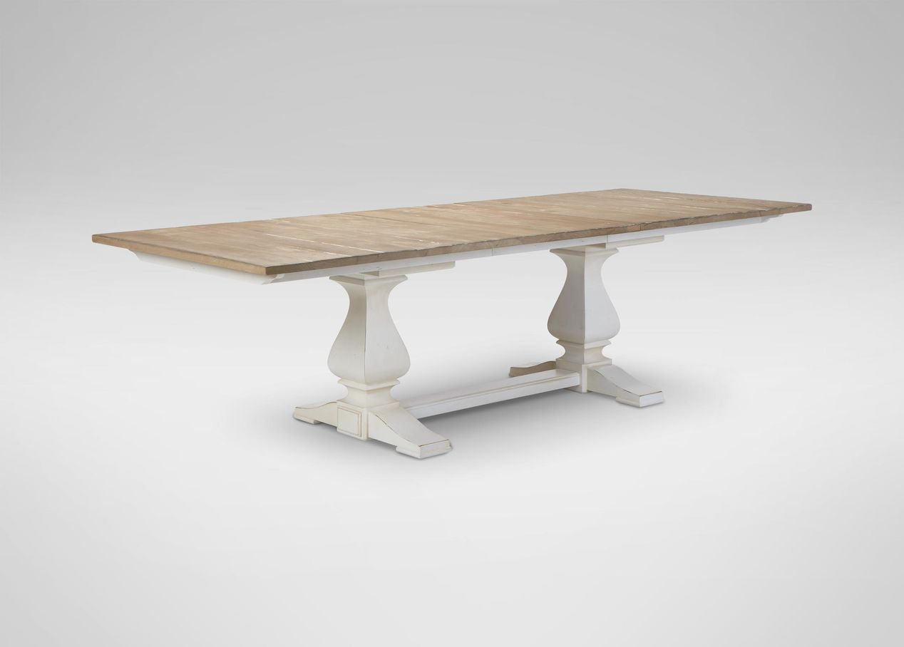 Cameron rustic dining table 42w x 86 l x 30 h costa for 12 x 30 table