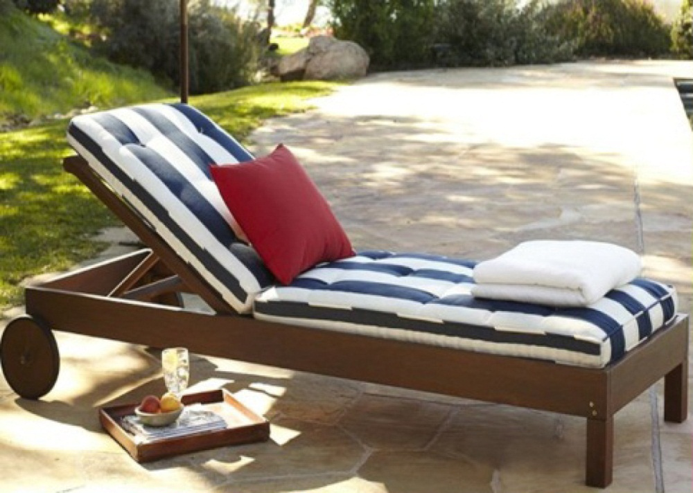 Chatham Teak Outdoor Chaise Lounge Chair Costa Rican