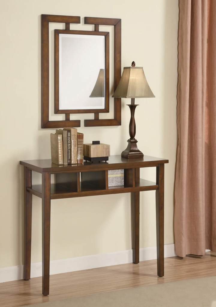 Contemporary Console Table And Mirror 900156 Costa Rican