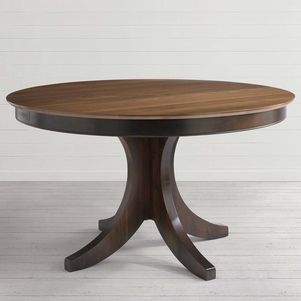 round pedestal dining room tables | Custom Dining 54 Inch Round Pedestal Table | Costa Rican ...