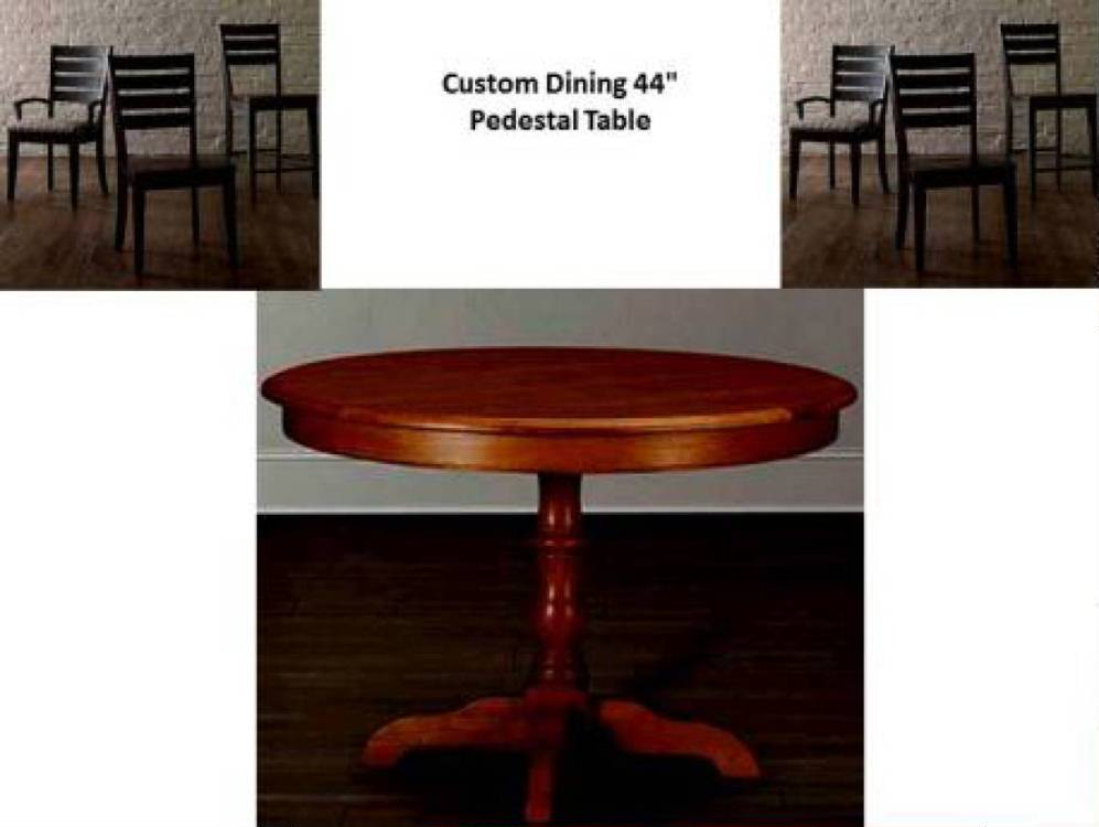 Custom round 44 dining table costa rican furniture for 44 round dining table