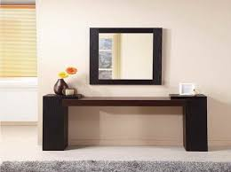 phf2016-gtrinity-hallway-and-entryway-black-wood-table-and-black-wood-mirror