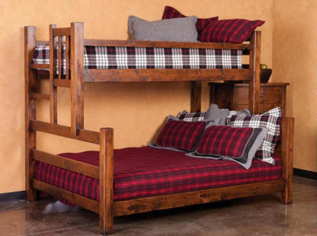 Jackson Hole Twin Over Queen Bunk Beds | Costa Rican Furniture
