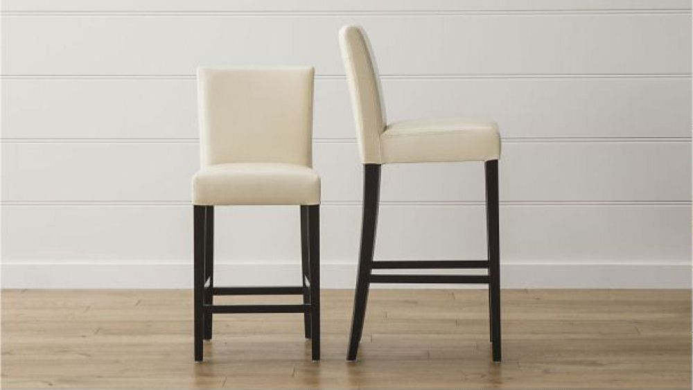 Lowe Ivory Synthitic Leather Barstools Costa Rican Furniture