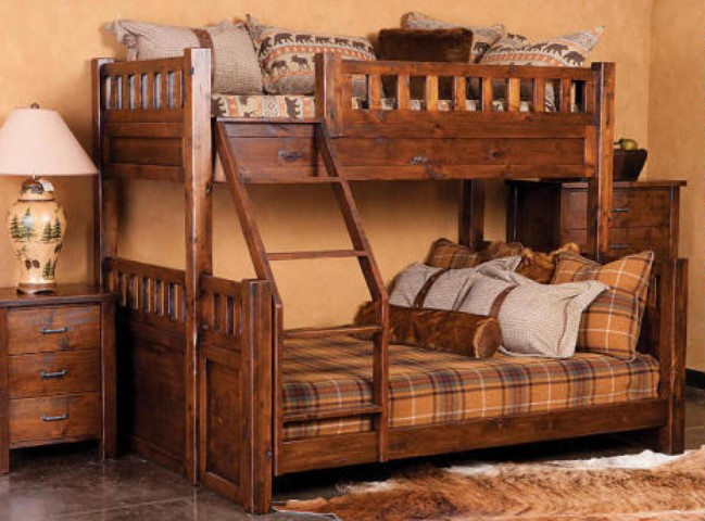 Montana Extra Long Twin Over Queen Bunk Bed Costa Rican