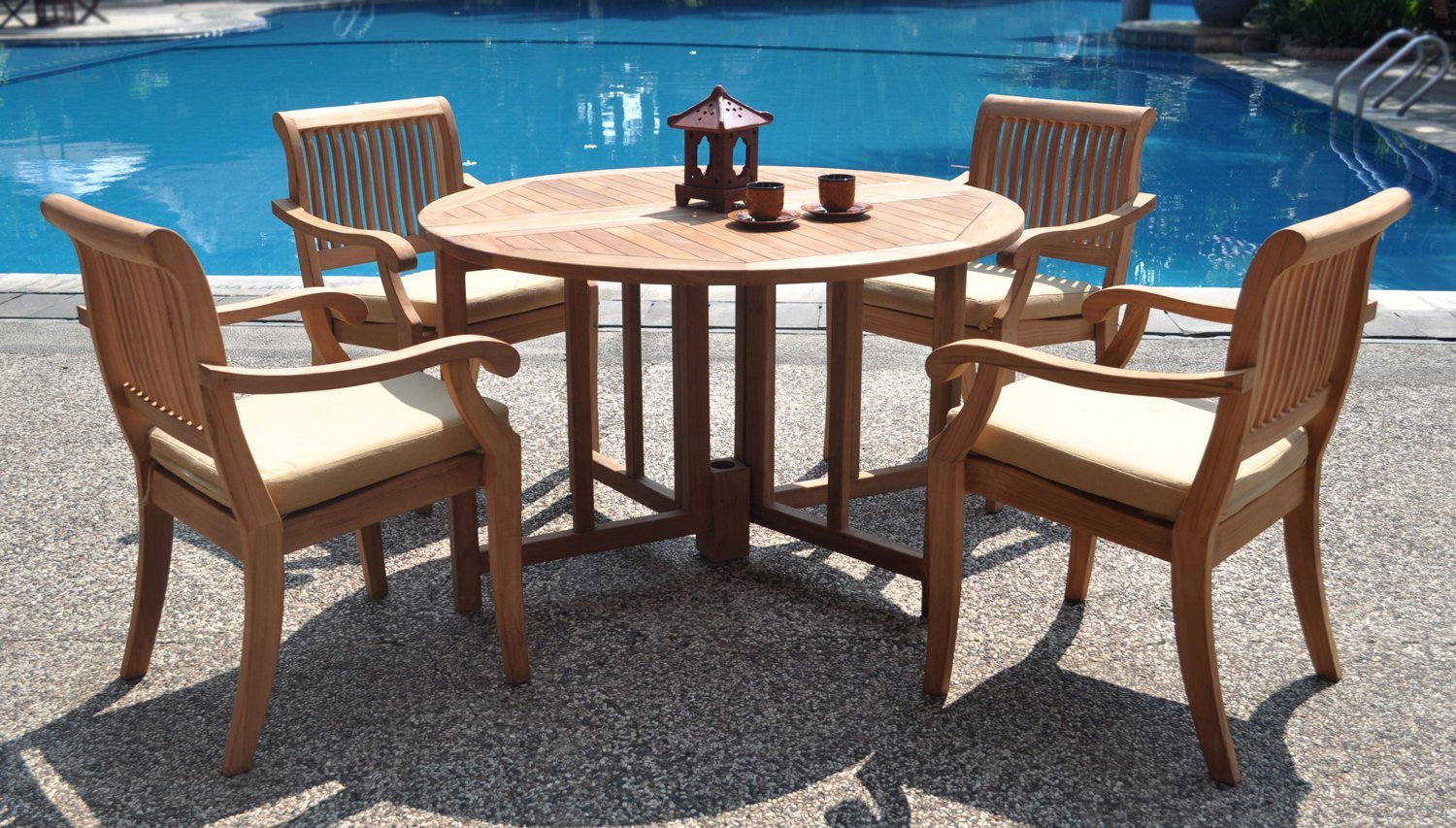 Phf 2021 Luxurious Teak Dining Set 48 Inch Round Table