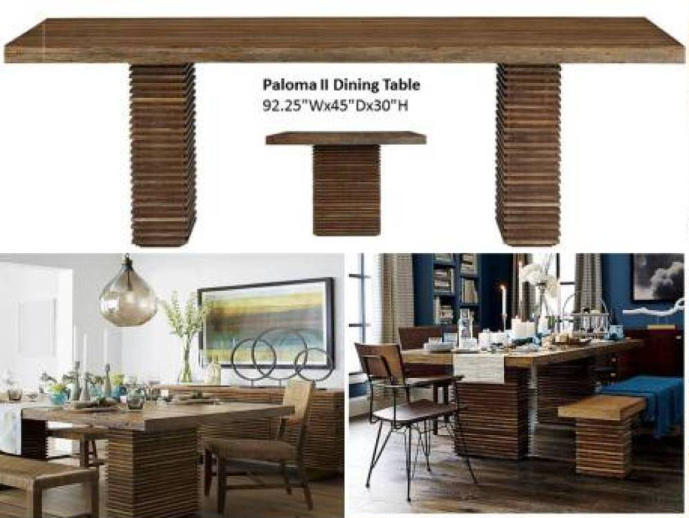 Paloma ii dining collection costa rican furniture for Pacific home collection