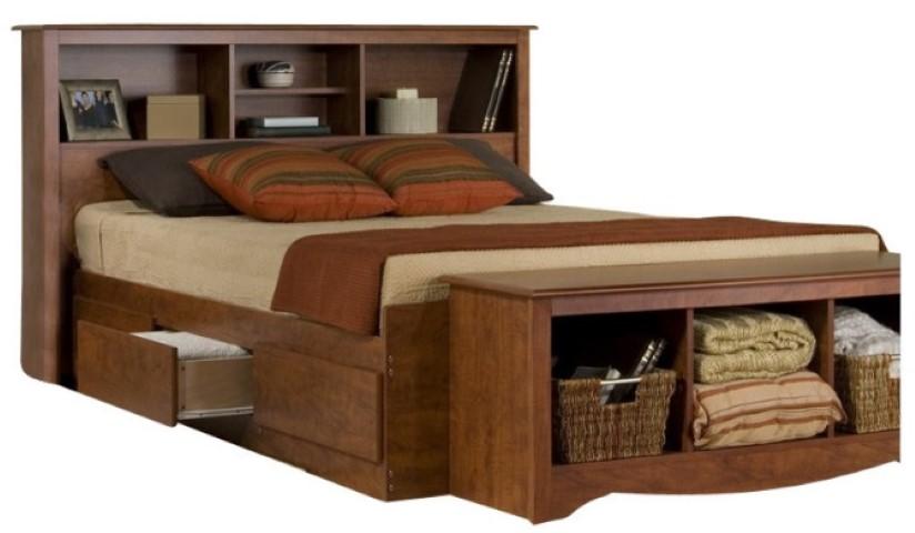 Prepac Full Platform Storage Bed