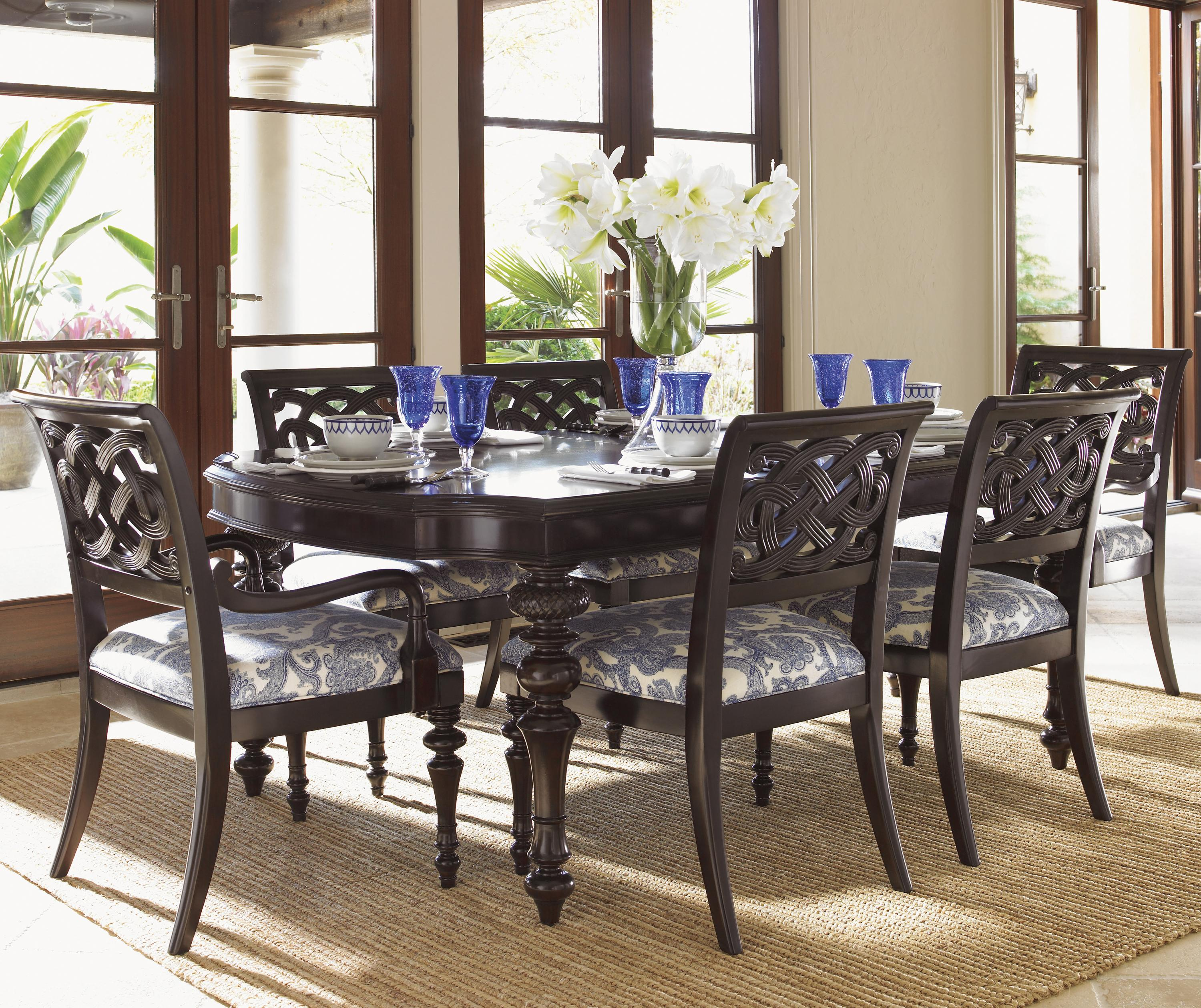 Royal kahala islands dining table w chairs costa rican furniture - Islands dining room ...