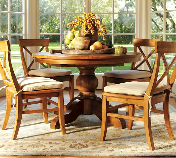 Sumner Extending Pedestal Table And Aaron Chair Piece Dining Set - Pottery barn sumner dining table