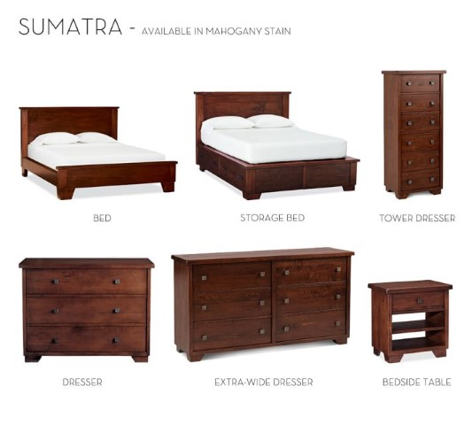 Sumatra bedroom collection costa rican furniture for Pacific home collection