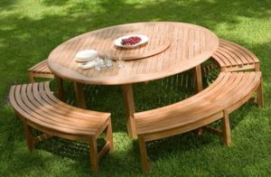 phf2016-teak-outdoor-chesapeake-6ft-round-table-and-benches
