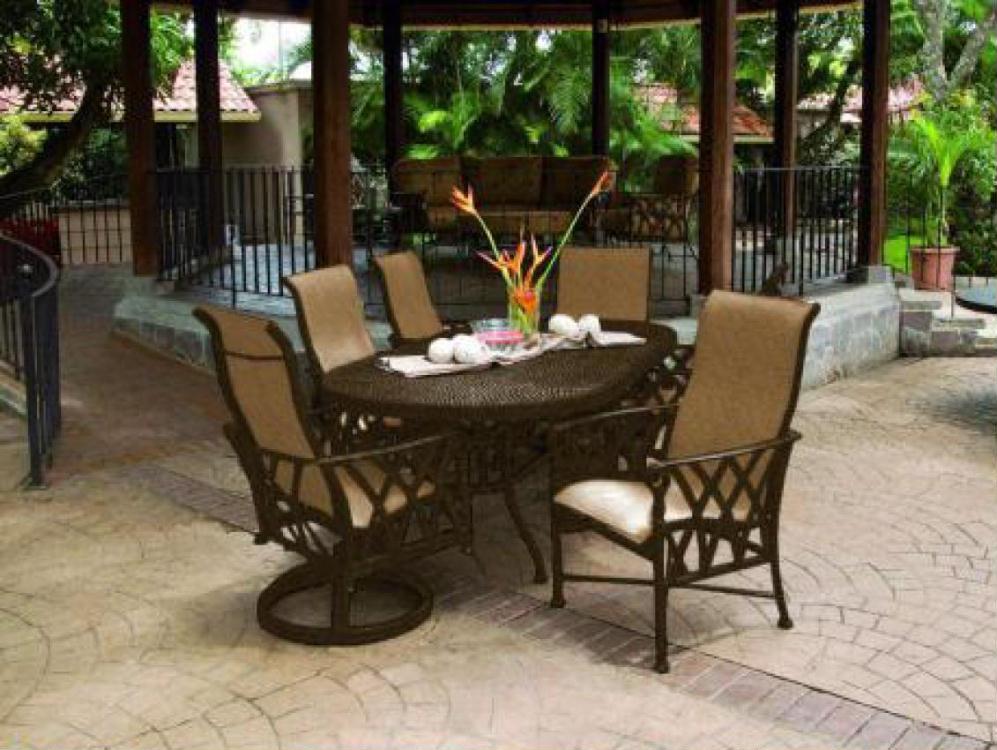veranda sling dining costa rican furniture. Black Bedroom Furniture Sets. Home Design Ideas