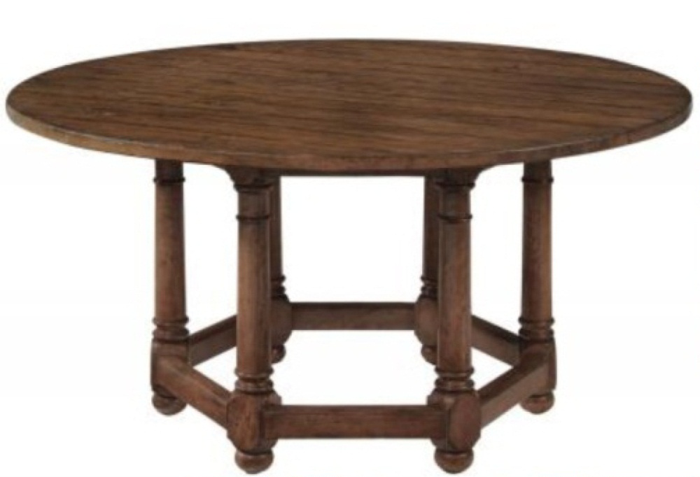 Vintage Patina Round Dining Table Costa Rican Furniture