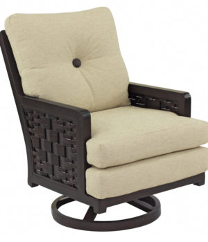 Spanish Bay Cushioned Swivel Rocker Costa Rican Furniture