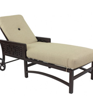Spanish bay cushioned chaise lounge costa rican furniture for Bay window chaise lounge