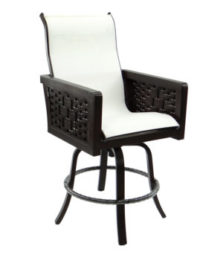 Spanish Bay High Back Sling Swivel Counter Stool