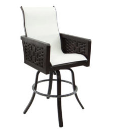 Spanish Bay High Back Sling Swivel Bar Stool