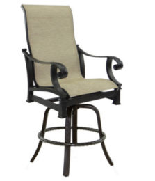 Bellagio High Back Sling Swivel Counter Stool