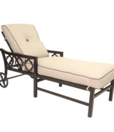 Belle Epoque Cushioned Chaise Lounge