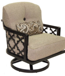Belle Epoque Cushioned Lounge Swivel Rocker