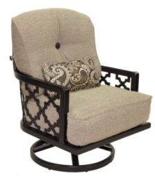 Belle Epoque High Back Cushioned Lounge Swivel Rocker