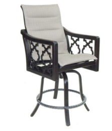Belle Epoque High Back Sling Swivel Counter Stool
