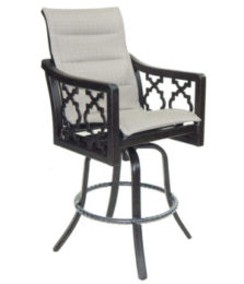 Belle Epoque High Back Sling Swivel Bar Stool