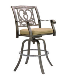 Madrid Cast Swivel Bar Stool