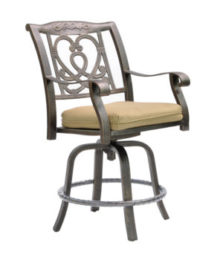 Madrid Cast Swivel Counter Stool