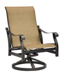 Madrid Sling Lounge Swivel Rocker