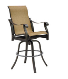 Madrid High Back Sling Swivel Bar Stool