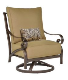 Veracruz High Back Cushioned Lounge Swivel Rocker