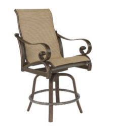 Veracruz High Back Sling Swivel Counter Stool
