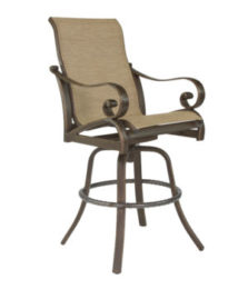 Veracruz High Back Sling Swivel Bar Stool