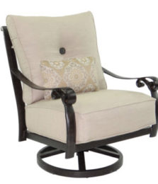 Bellanova Cushioned High Back Swivel Lounge Rocker