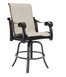 Bellanova High Back Sling Swivel Counter Stool