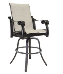 Bellanova High Back Sling Swivel Bar Stool