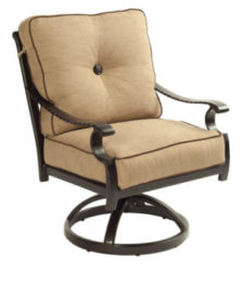 Monterey City Cushioned Swivel Rocker