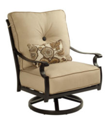 Monterey High Back Cushioned Lounge Swivel Rocker