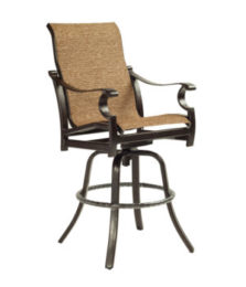 Monterey High Back Sling Swivel Bar Stool