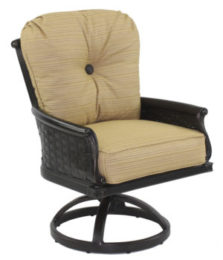 English Garden Cushioned Swivel Rocker